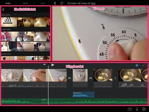 Skärmbild iMovie app