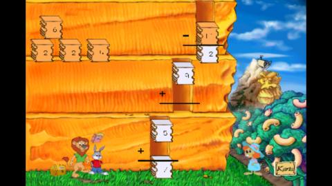 Bilden visar att det är svårt att se siffror och bokstäver i spelet.