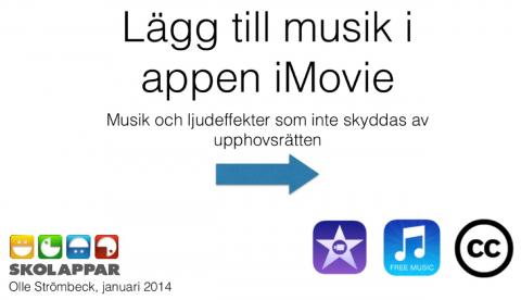 Använd musik i iMovie