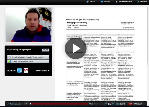 Johan Eriksson arbetar med Movenote