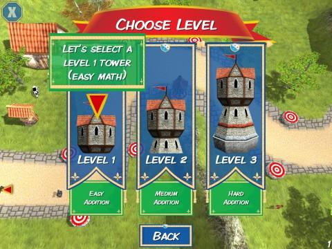 Välj torn! Ju högre torn, desto svårare tal att lösa.